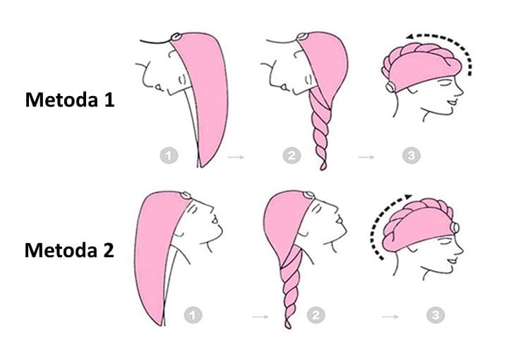 prosop microfibra ingrijire par stil turban